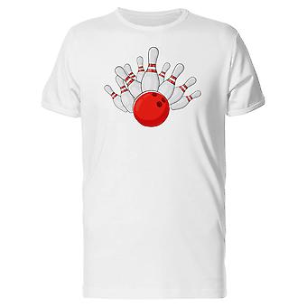 White Bowling Splits & Red Ball Tee Men's -Image by Shutterstock