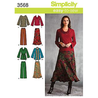 SIMPLICITY MISSES AND PLUS SIZE TOP, PAN-20W - 28W