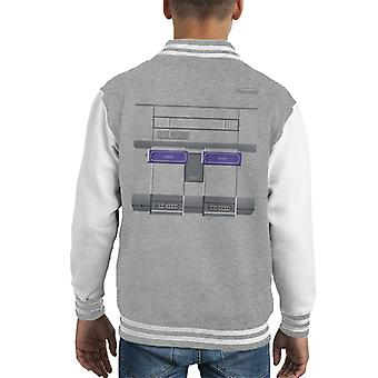 Super Nintendo Entertainment System Gaming Console Kid's Varsity Jacket