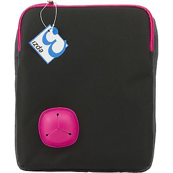 Epzi carrying case for Tablet devices up to 10, shoulder strap, Black/Pink