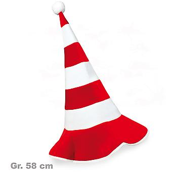 Pointy Hat Red White stocking Cap dwarf GNOME