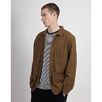 Portuguese Flannel Pinhero Overshirt Olive