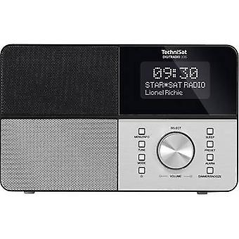 TechniSat DigitRadio 306 DAB + mesa de radio DAB, FM, AUX negro