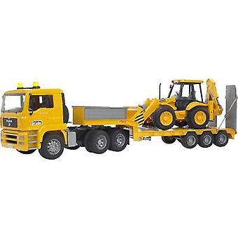 Brother MAN TGA low loader with JCB 4CX backhoe loader