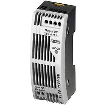 Phoenix Contact STEP-PS/1AC/24DC/0.75/FL Rail monté PSU (DIN) 24 Vdc 0,83 A 18 W 1 x