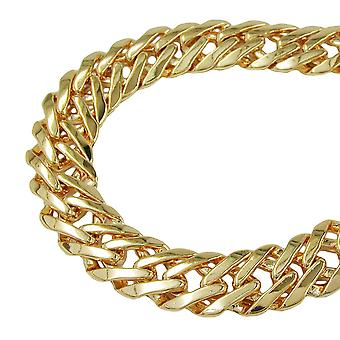 Bracelet flat fantasy 7, AMD gold plated 7 mm 17 cm