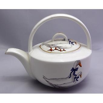 English Bone China Teapot Ducks