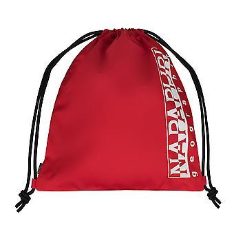 Napapijri Happy Gym Sack Rucksack Freizeit Umhängetasche Turnbeutel Rot 7408