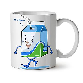 Happy Milk Carton NEW White Tea Coffee Ceramic Mug 11 oz | Wellcoda
