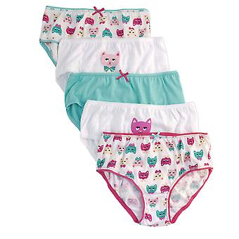 Girls Anucci Kids 100% Cotton Printed Briefs pants underwear 5 Pack