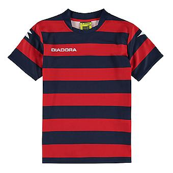 Diadora Kids Boys Frem SS T Shirt Baselayer Top Tee Compression Thermal Skins