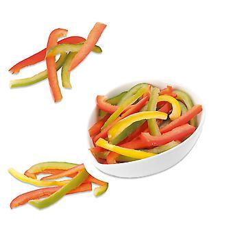 Grüns gefrorene Scheiben gemischte Paprika