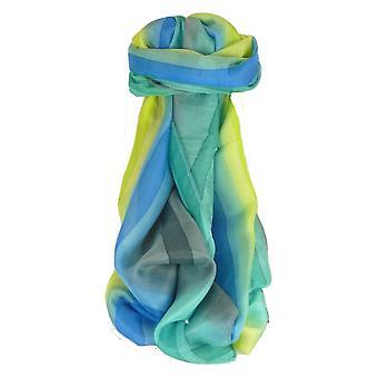 Mora seda bufanda larga clásica paleta de arco iris Kumar por Pashmina y seda