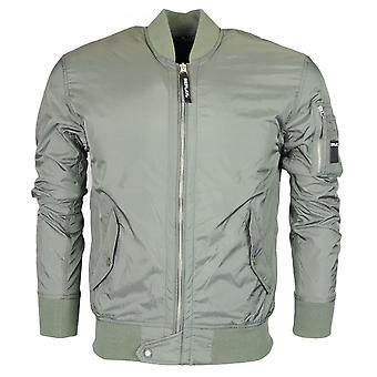 Replay Bomber Khaki Green Jacket