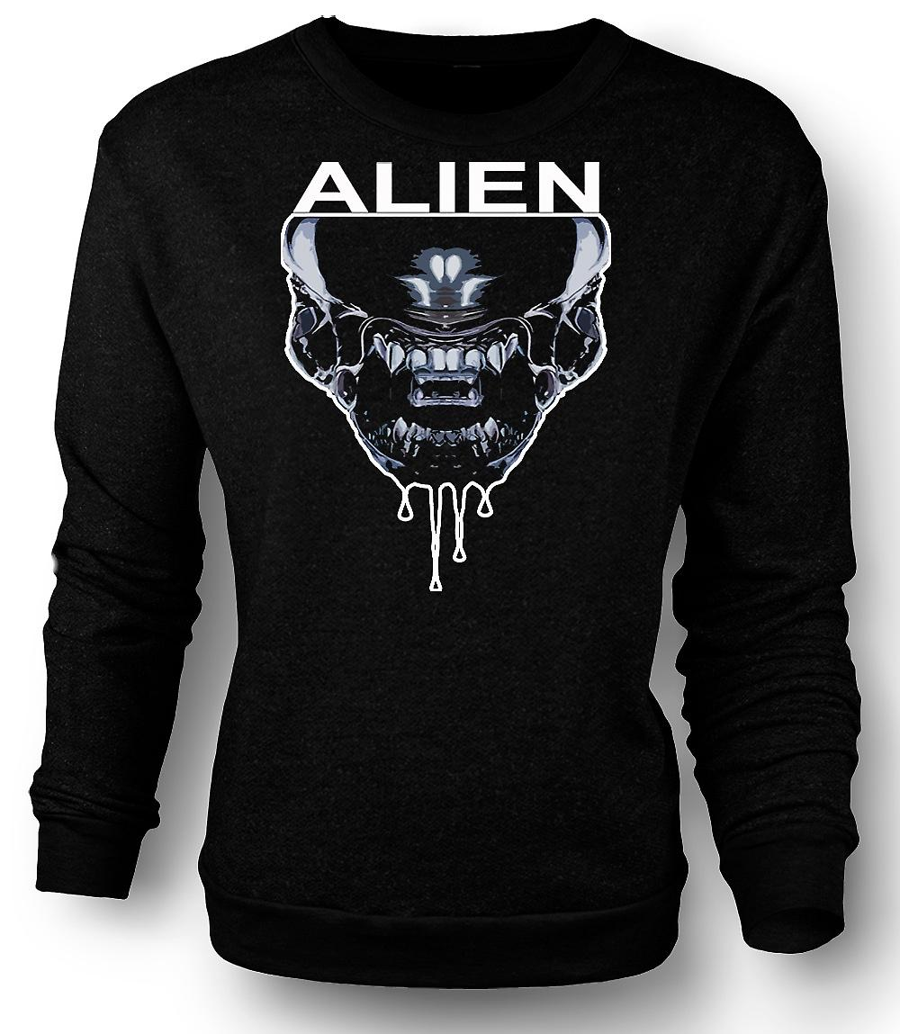 Mens Sweatshirt Alien Face - Sci Fi - Pop Art