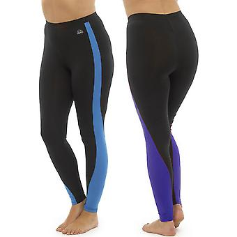 2Pk Ladies Tom Franks Two Tone Sport Gym Leggings Fashion Sportswear