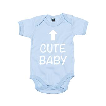 Cute Baby Blue Short Sleeve Bodysuit Baby Grow