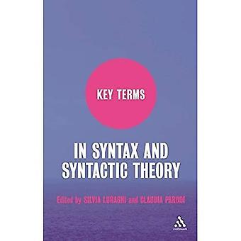 Principaux termes de syntaxe et de la théorie syntaxique (termes clés)