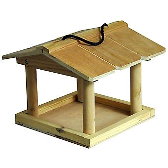 Natures Market HBT Hanging Wooden Garden Wild Bird Nut seed mealworm suet Feeding Station Table