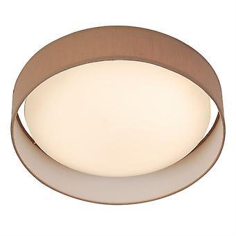 Moderno una luz redonda LED color con sombra marrón - reflector 9371-37BR