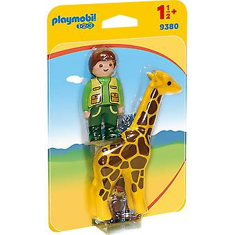 Playmobil 9480 123 Zookeeper With Giraffe
