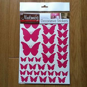 BUTTERFLIES VARIOUS SIZES  DECORATIVE STICKERS