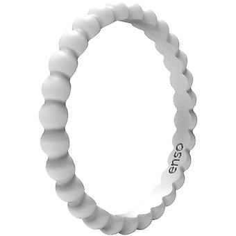 Enso Rings Beaded Stackables Series Silicone Ring - Misty Grey