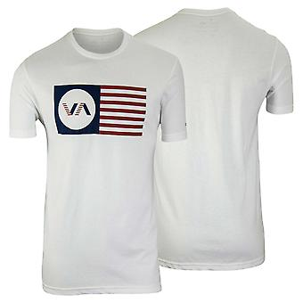 RVCA Mens VA Sport Independence T-Shirt - White/Red/Blue