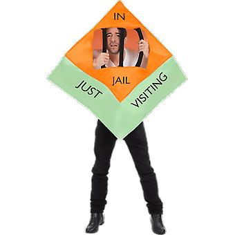 Adult Jail Convict Monopoly Board Game Tile Novelty Funny Fancy Dress Costume