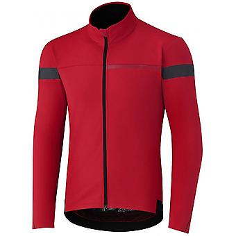 Shimano Red Windbreak Long Sleeved Cycling Jersey