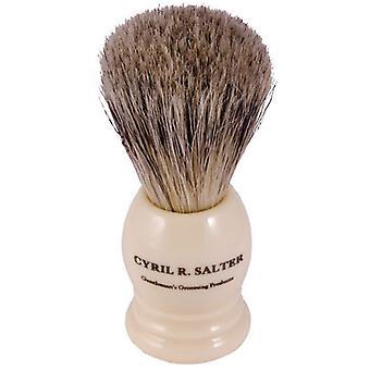 Cyril R. Salter Badger Hair & Bristle Shaving Brush Ivory