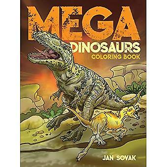 Mega-Dinosaurier-Farbs-Buch