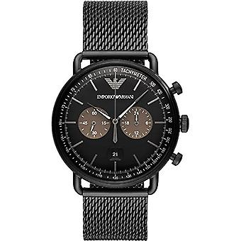 Emporio Armani Ar11142 Black Stainless Steel Mesh Bracelet Men's Watch