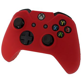 Assecure pro silicone skin grip protective cover rubber bumper case Xbox One Red