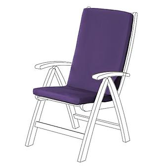 Gardenista® Purple Water Resistant Highback Seat Pad for Garden Chair, Pack of 6