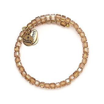 Alex et Ani blush Starry-Eyed Wrap bracelet en or VW364RG