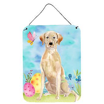 Yellow Labrador påske vegg eller dør hengende utskrifter