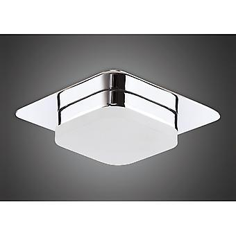 Marcel Recessed Down Light 5w Led Square 3000k Ip44, 450lm, Polished Chrome/frosted Acrylic, 3yrs Warranty