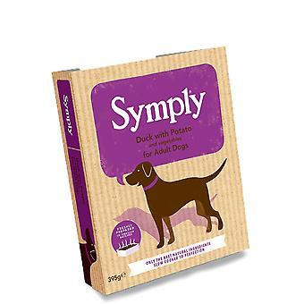 Symply Ente mit Kartoffeln für Erwachsene Hunde 395g nass Tabletts - Paket