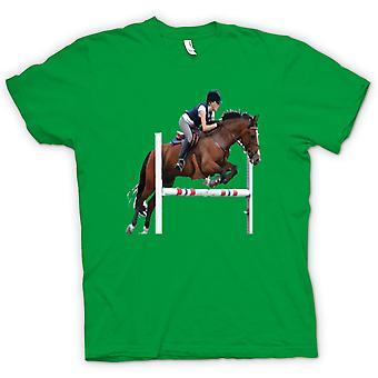 Womens T-shirt - Show Jumping Horse