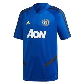 2019-2020 Man Utd Adidas Training Shirt (Blue) - Kids