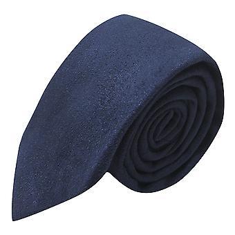 Luxury Navy Blue Suede Tie