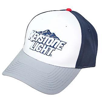 キーストーン光は白と青の調節可能な帽子