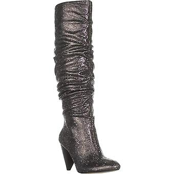 INC International Concepts Womens GERII Tall Boots Pewter 7M