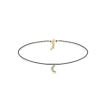 Elli Women's Necklace with Gold Plated Moon and White Crystal