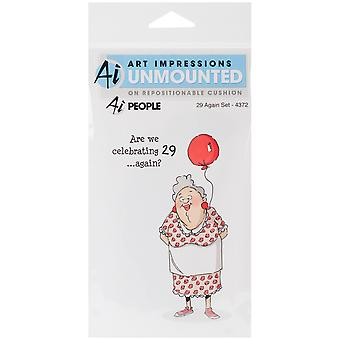 Art Impressions People Cling Rubber Stamp 7