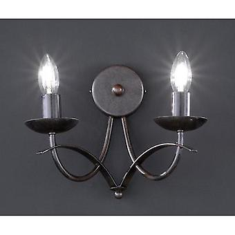 Wall light E14 60 W HV halogen Honsel Hannes 39082 Rust (matt), Antique finish