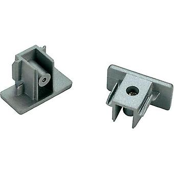 High voltage mounting rail End piece 2-piece set SLV
