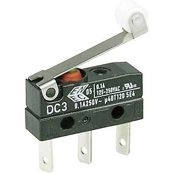 Microswitch 250 Vac 0.1 A 1 x On/(On) Cherry Switches DC3C-L1RC IP67 momentary 1 pc(s)