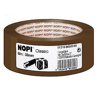 Packaging tape TESA Nopi® Brown (L x W) 66 m x 38 mm Acrylic Content: 1 Rolls